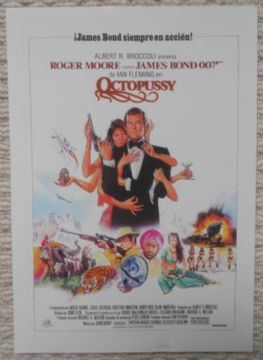 Octopussy, French Advertising Card, James Bond, Classic Image! '83